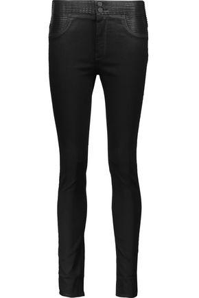 RTA Paneled mid-rise skinny jeans