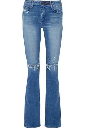 RTA Jackson mid-rise distressed flared jeans