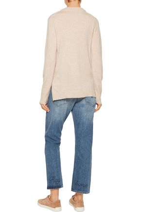 RAG & BONE Embroidered distressed boyfriend jeans