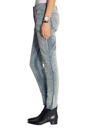 ALEXANDER WANG Wang 002 mid-rise devoré velvet skinny jeans