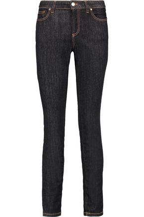 VERSACE COLLECTION Studded mid-rise slim-leg jeans