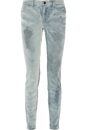 ALEXANDER WANG Wang 001 flocked mid-rise skinny jeans