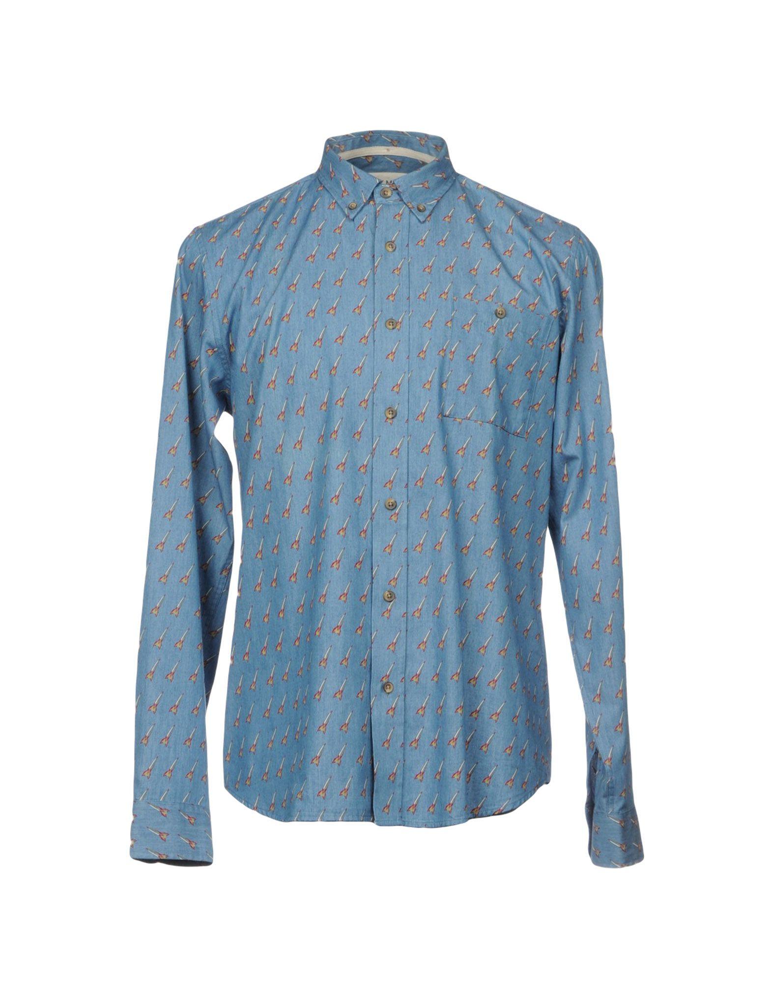 HYMN Herren Jeanshemd Farbe Blau Größe 6