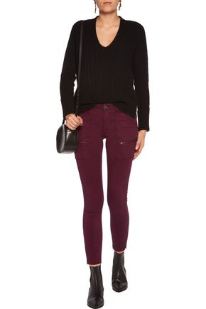 JOIE Park cotton-blend twill skinny pants