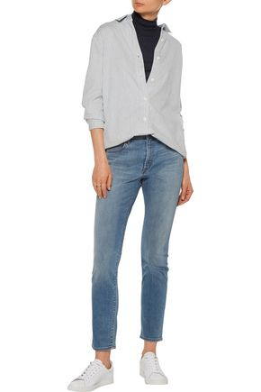 HELMUT LANG Mid-rise faded skinny jeans