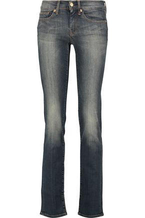 7 FOR ALL MANKIND Mid-rise faded straight-leg jeans