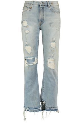 R13 Bowie distressed boyfriend jeans