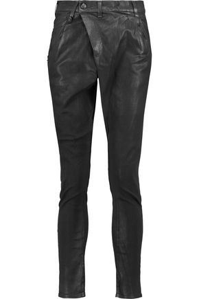 R13 Mid-rise coated denim skinny jeans