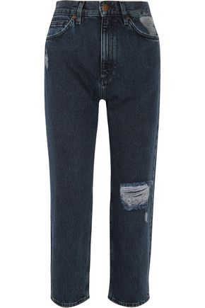 M.I.H JEANS Jeanne high-rise distressed straight-leg jeans