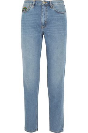 M.I.H JEANS Faded high-rise tapered jeans