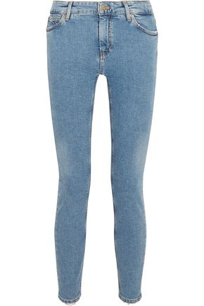 M.I.H JEANS Bridge mid-rise distressed slim-leg jeans