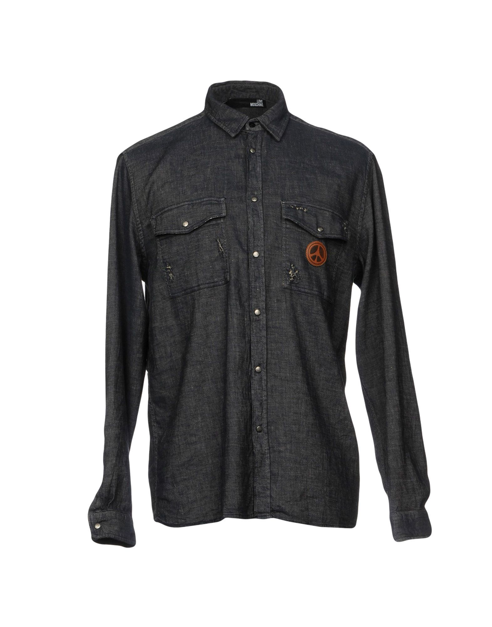 LOVE MOSCHINO Джинсовая рубашка цена 2017