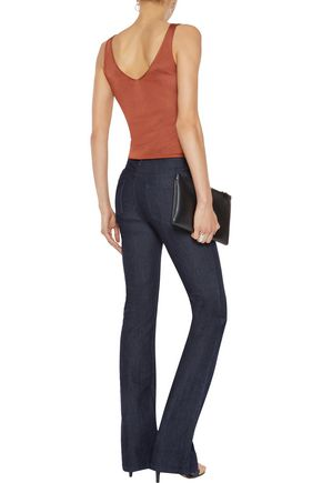 IRIS AND INK High-rise flared jeans