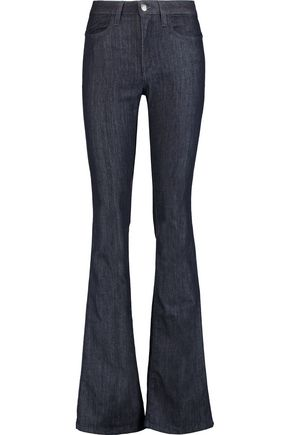 IRIS & INK High-rise flared jeans