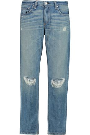 RAG & BONE Cropped distressed low-rise boyfriend jeans