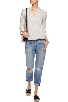 RAG & BONE Cropped distressed low-rise boyfriend jeans