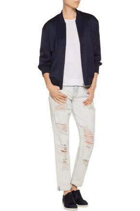 RAG & BONE Distressed mid-rise boyfriend jeans