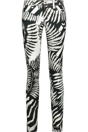JUST CAVALLI Low-rise printed skinny jeans