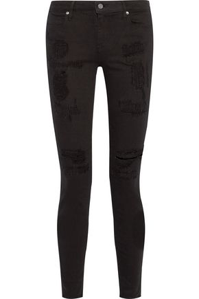 RTA Icon low-rise distressed skinny jeans