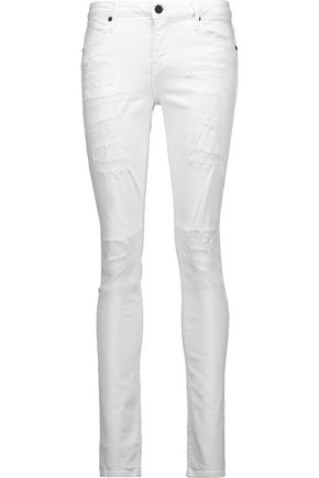 RTA Icon mid-rise distressed skinny leg jeans
