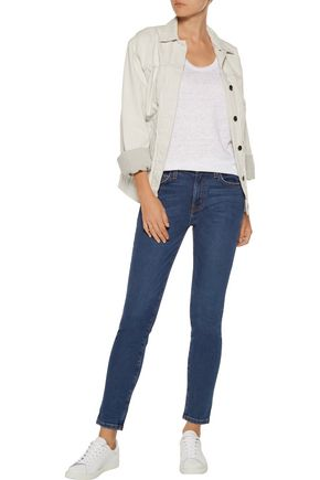 CURRENT/ELLIOTT The High Waist high-rise cropped skinny jeans