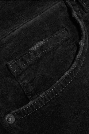 CURRENT/ELLIOTT The Fling stretch-cotton velvet pants