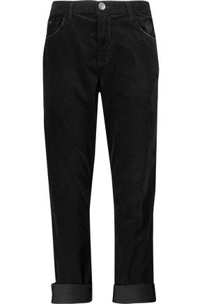 CURRENT/ELLIOTT The Fling stretch-cotton velvet pants