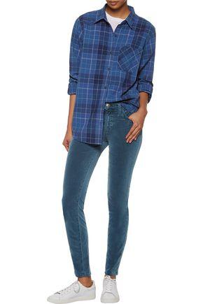 CURRENT/ELLIOTT The Ankle mid-rise stretch-cotton velvet skinny jeans