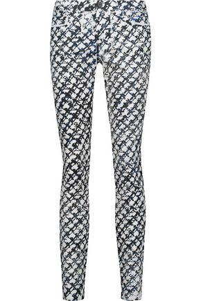 PROENZA SCHOULER Mid-rise printed skinny jeans