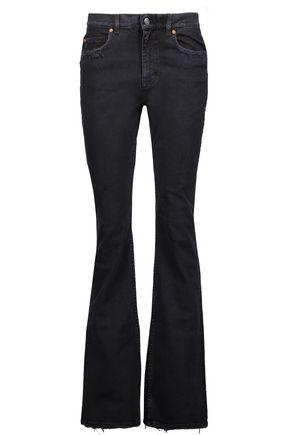 ACNE STUDIOS Lita distressed high-rise flared jeans
