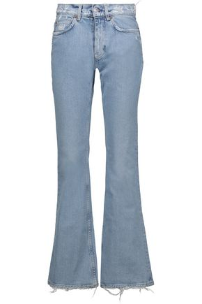ACNE STUDIOS Lita distressed high-rise flared jeans