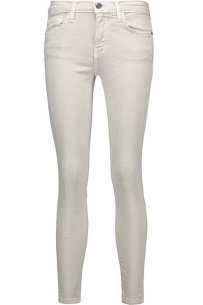 CURRENT/ELLIOTT The Stiletto printed mid-rise skinny jeans