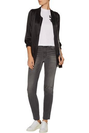 CURRENT/ELLIOTT The Mamacita distressed high-rise skinny jeans