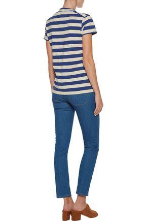 M.I.H JEANS Paris cropped mid-rise slim-leg jeans