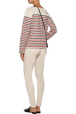 J BRAND 620 Super Skinny mid-rise distressed skinny jeans