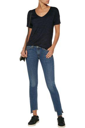 RAG & BONE Low-rise frayed skinny jeans