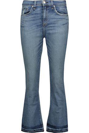 RAG & BONE Cropped mid-rise bootcut jeans