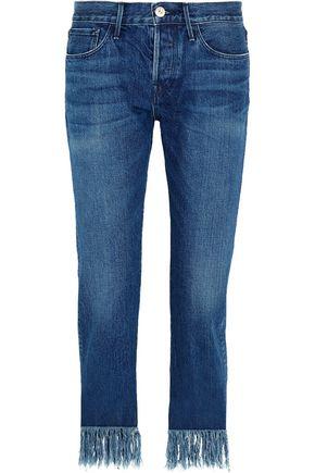 3x1 WM3 Crop Fringe mid-rise straight-leg jeans