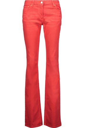 ROBERTO CAVALLI Mid-rise coated bootcut jeans