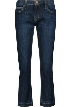 CURRENT/ELLIOTT The Cropped mid-rise skinny jeans