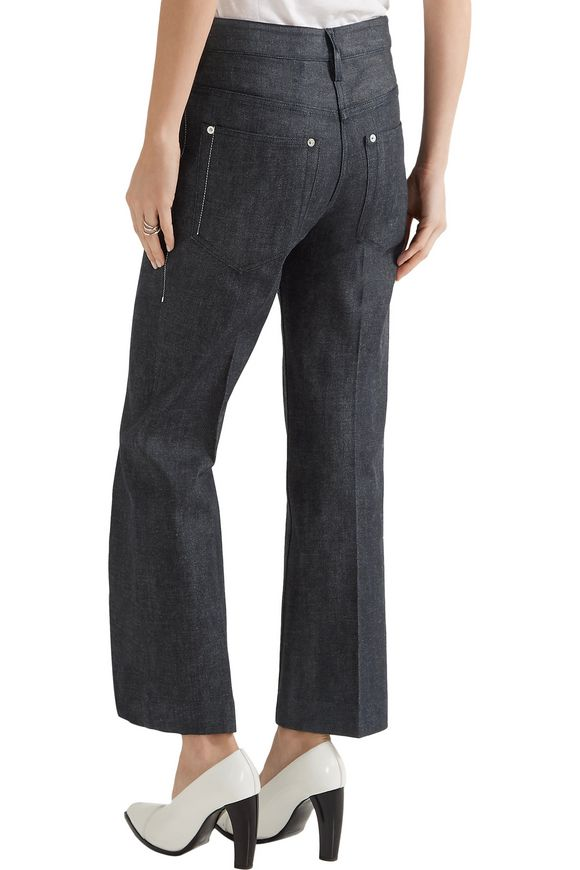 Cropped mid-rise flared jeans | CALVIN KLEIN COLLECTION | Sale up to 70% off  | THE OUTNET