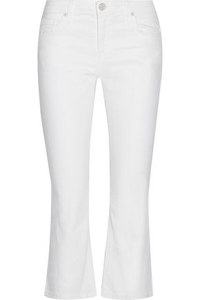 JOIE Mid-rise cropped flared jeans