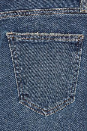 CURRENT/ELLIOTT The Wide-Leg Crop mid-rise jeans