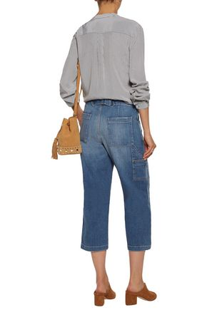 CURRENT/ELLIOTT The Janitor mid-rise cropped faded straight-leg jeans