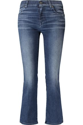 7 FOR ALL MANKIND Cropped mid-rise bootcut jeans