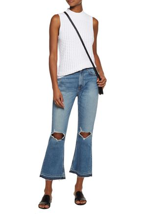RAG & BONE Vintage cropped high-rise flared jeans