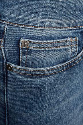 M.I.H JEANS Bridge mid-rise distressed slim-leg jeans