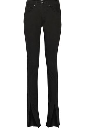 RAG & BONE High-rise cord embroidered-trim flared jeans