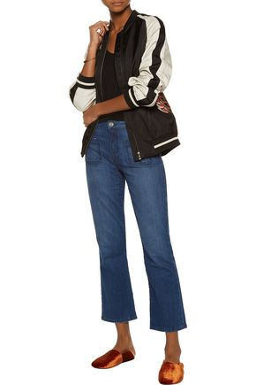 JOIE Laney cropped high-rise flared jeans