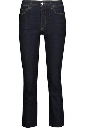 PRADA Cropped mid-rise slim-leg jeans